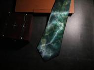 坏绅士绿色复古花纹领带荷趣英伦风领带