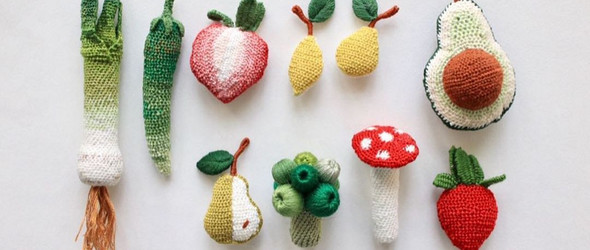 绣出来的瓜菜水果 | @platy.kr