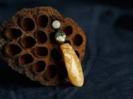 柒言不语原创 手工打磨波罗的海蜜蜡 花蜜 搭配和田玉老琉璃