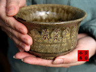 传统龙窑柴烧刻经钵泡茶碗