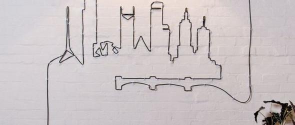 DIY艺术墙项目:将乱糟糟的电线改造成漂亮的艺术墙