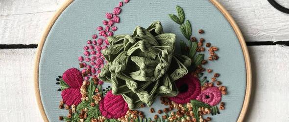 当纸花遇上刺绣 - 英国设计师 Helen Wilde 的纸花刺绣