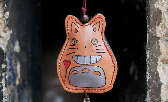 「塔塔拉」原创手工牛皮家居装饰包包挂件服装搭配挂饰龙猫风铃