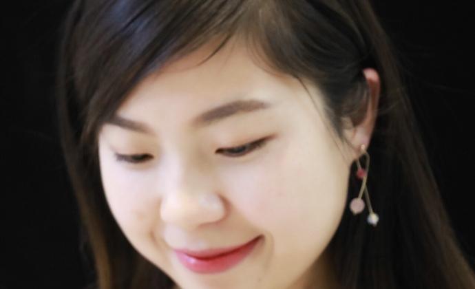 【如果思念看得见】楠楠小张甜美百搭小众设计耳环耳链耳饰女礼品