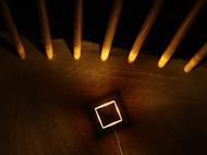 觅见生活丨金字塔木质小夜灯