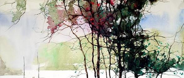 浓妆淡抹二相宜 - 艺术家Z.L.Feng(冯出)的水彩风景画