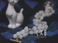【LXB私人设计】柔白色水晶手链