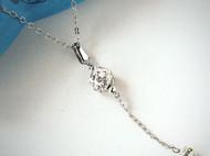 大小雙水鑽珠鍊墬飾(白)