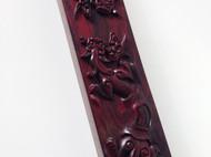 【LR ART】独立设计 印度小叶紫檀 纯手工打造 镇尺【双龙戏珠】
