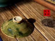 传统龙窑柴烧全手工刻花云纹茶盏