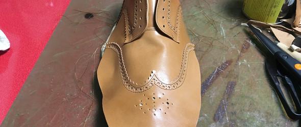手工鞋制作教程之五:鞋面制作过程