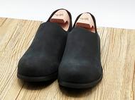 手工真皮定制 一脚蹬极简男士黑单鞋