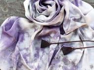 草木染丝巾