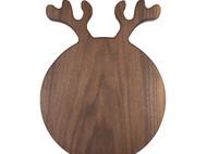 木说 黑胡桃木实木鹿角面包板水果板砧板 家居墙饰 结婚乔迁礼品