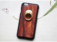 红木手机壳iphone6/6s/plus个性创意实木手机壳指环支架事事圆满
