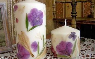 干花蜡烛DIY制作教程 - 简单几步DIY创作浪漫的花卉蜡烛/烛台教程