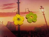 手工钩针编织花朵耳环