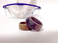 原木戒指的尝试-紫芯苏木多边体反光戒指