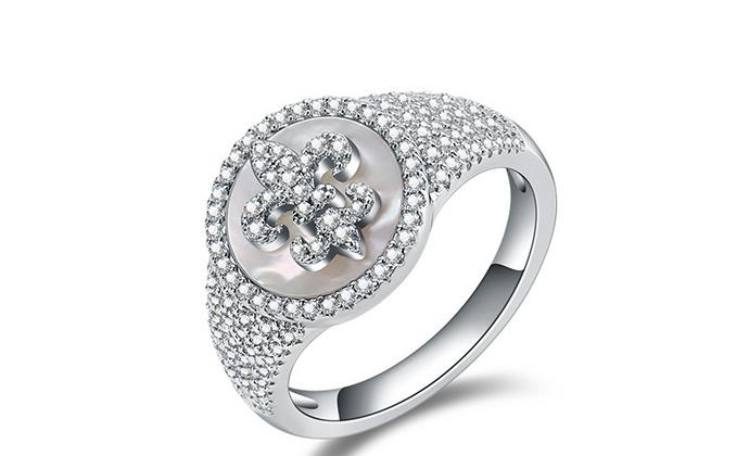 CAMBAS刊芭思 梦幻星辰戒指 银镶晶钻925纯银女原创设计情侣指环