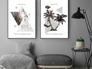 北欧客厅挂画现代简约沙发背景抽象卧室玄关新中式壁画手绘轻奢
