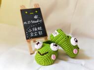 【原创】小绿蛙宝宝鞋/学步鞋/毛线鞋