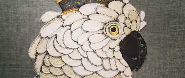 贴花工艺再现鸟类的美感 | 英国艺术家 Zara Merrick 的贴花刺绣纺织艺术画作