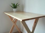 纯手工现代简约日式松木书桌 北欧宜家原木餐桌办公桌实木写字台