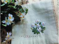 手工刺绣手帕之野菊花