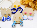 在家也能制作的首饰,3种简单方法手工制作软陶金箔混色耳环