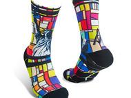 意品造物玩酷子弟【城市系列_纽约】Liberty男女印花运动袜