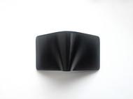 【杉本造作】黑色马缰革 设计款短夹。