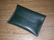 墨绿十字纹卡包名片包