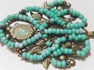 巴洛克风格复古欧美松石绿发卡发饰边夹卡子