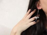 入口/ENTRANCE原创设计 天然黑蝶贝925银 个性百搭 手工耳环