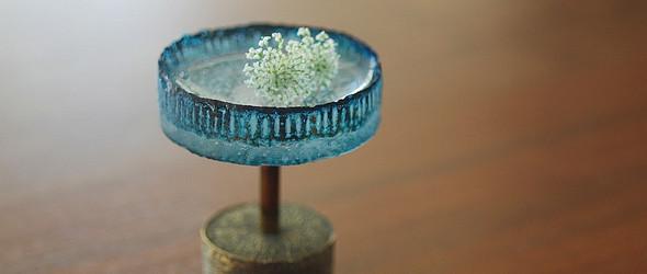 玻璃上的迷人气泡与蓝色冰焰 | 日本玻璃艺术家曽田伸子创作的玻璃器物