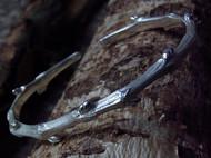 【新蕾】纯然物语原创设计 手工纯银树枝手镯 藤