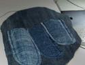 DIY布艺图解教程:蓝色牛仔布拉链手包