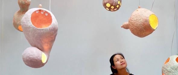 清新明快的粘土灯具和器物:Yuko Nishikawa