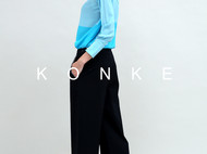 KONKE秘境系列春夏桑蚕丝印花抽象衬衫