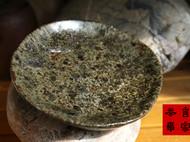传统龙窑柴烧的粗陶盘子