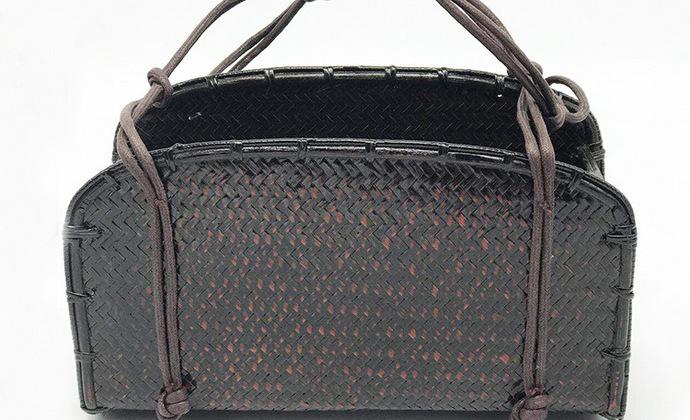 复古风的手工竹编手提包/手提袋