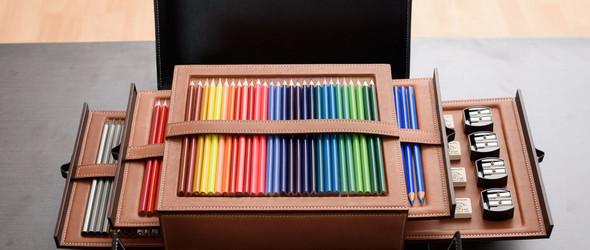 手工皮具制作 | 驹缝皮革笔盒(Pencil box)制作过程
