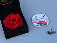 手工杯垫【山茶花】,看看花,喝喝茶吧~