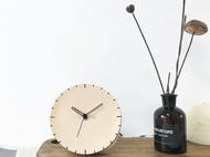 黑色原色真皮手工挂钟台钟现代简约家庭装饰