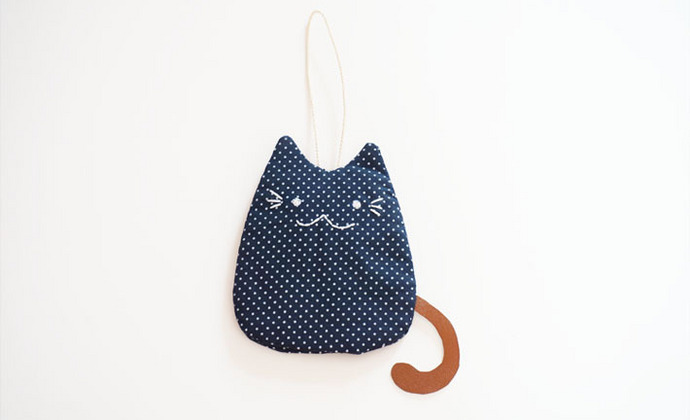 【BOoの物语】.猫.原创ZAKKA手作布包.纯手工全棉布艺钥匙包