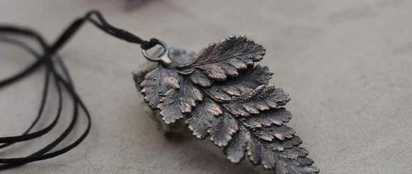 金工 | 树叶造型的金属饰品