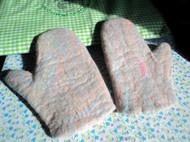 混色毛毡手套