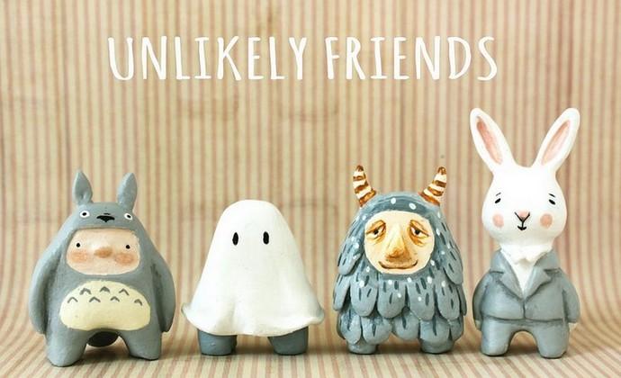 治愈系手工原创设计童话系列-奇幻乐园手绘陶瓷礼品摆件-家居饰品可作为礼物送给心爱的人
