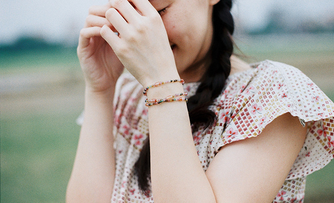 「气息」KOAN 碧玺飘红玛瑙手链项链