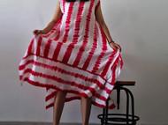 真丝扎染连衣裙